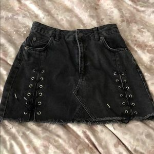 mini skirt with ribbon on the sides
